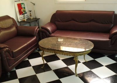 Coffee table with nautiluses