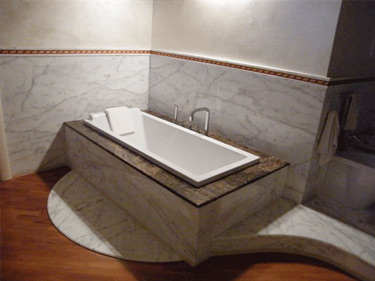 Vasca da bagno classica in marmo top level marble