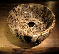 Lavabo in marmo fossile 3