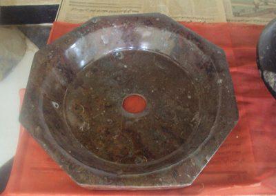 Octagonal marble basin