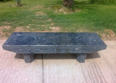 Black marble bench
